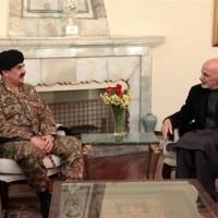 Raheel Shareef and Ashraf Ghani Meeting