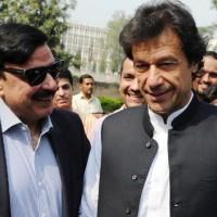 Sheikh Rasheed and Imran Khan