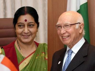 Sushma Swaraj  and Aartaz Aziz