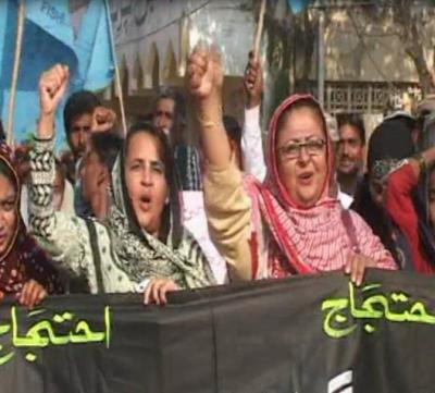 Badin PFF Protest