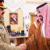 Mohammad bin Salman and Raheel Sharif