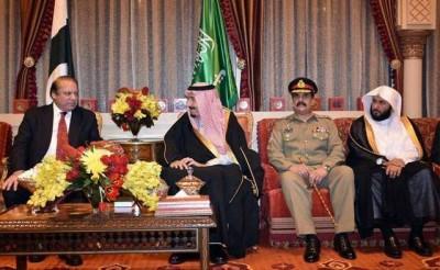 Nawaz Sharif and Raheel Sharif in a Meeting with Saudi King