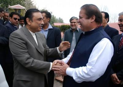 Nawaz Sharif and Zardari