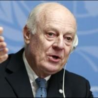 UN presenterin Syria world