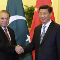 Xi Jinping and Nawaz Sharif