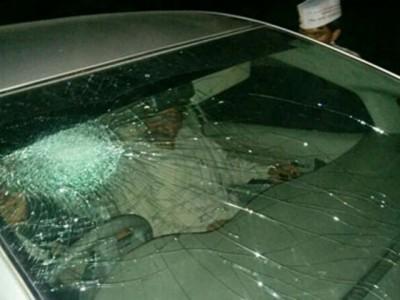 Arvind Kejriwal  Car  Attacked