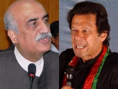 Khursheed Shah and Imran Khan