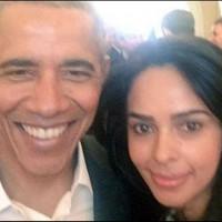 Malika Sharawat with Obama