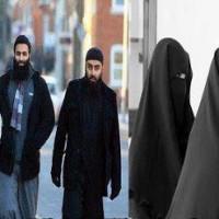 Muslim Man and Girls