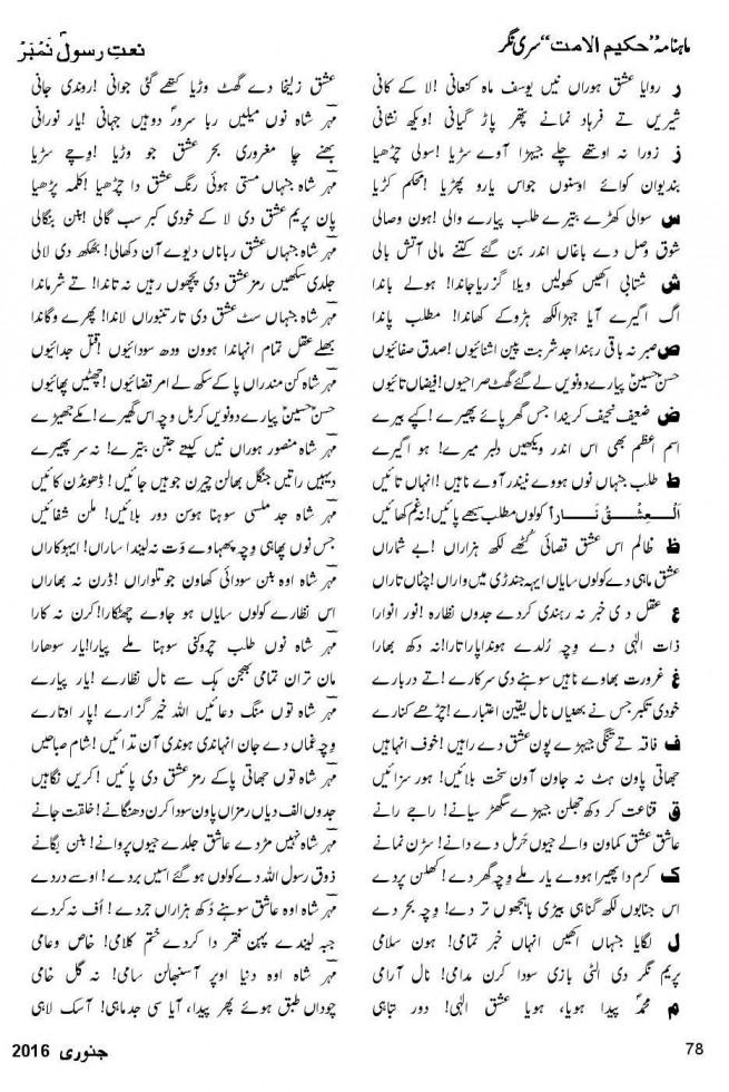 Punjabi Na'at by Pir Mehr Shah Sahib