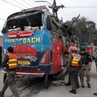 Bomb Blast in Peshawar Secretariat bus