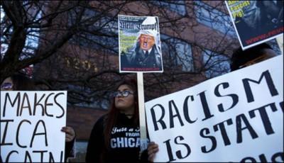 Donald Trump Rally, protest