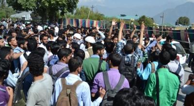 Kashmir Student Protest