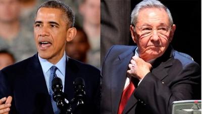 Obama and Raul Castro