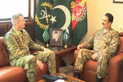 Raheel Sharif and  John Nicholson Meeting