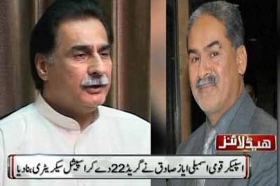 Sardar Ayaz Sadiq and Qamar Sohail Lodhi