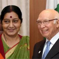 Sartaj Aziz and Sushma Swaraj