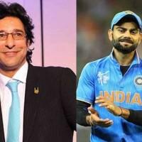Wasim Akram and Virat Kohli
