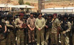 آرمی چیف کا اردن میں اسپیشل آپریشن فورسز کی مشق کا جائزہ، آئی ایس پی آر