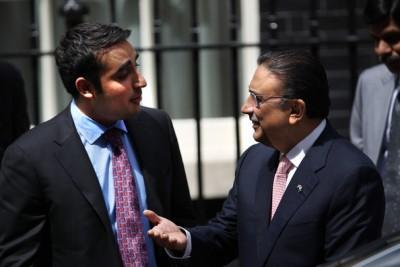 Bilawal Bhutto and Asif Ali Zardari