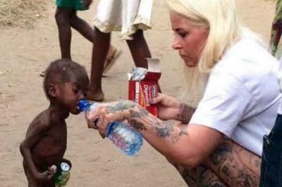 Child Drink Water