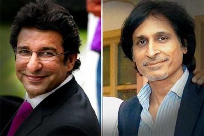 Rameez Raja and Wasim Akram