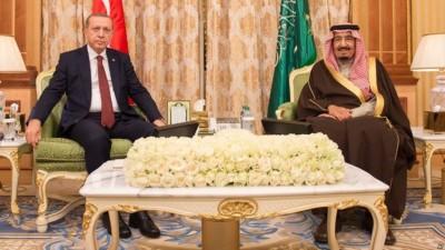 Tayyip Erdogan and Salman bin Abdul Aziz