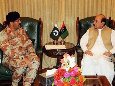 DG Ranger and Qaim Ali Shah Meeting