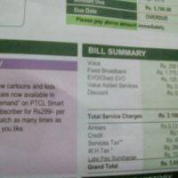 PTCL Bill