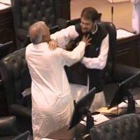 PTI Members Scuffles