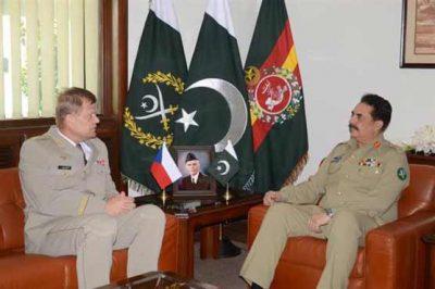 Raheel Sharif and Czech Republic Army Chief Meeting
