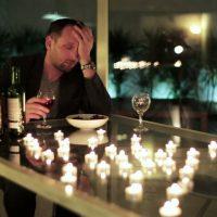 Sad Man Drinking