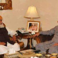 Zardari, Fazlur Rehman, Meeting