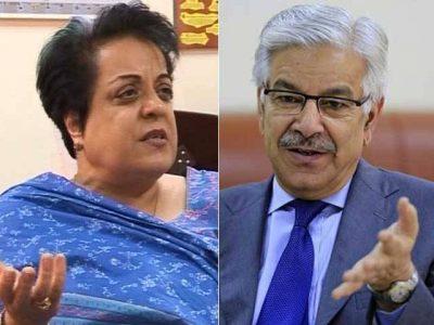 Khawaja Asif and Shireen Mazari