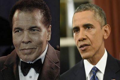 Obama and Muhammad Ali