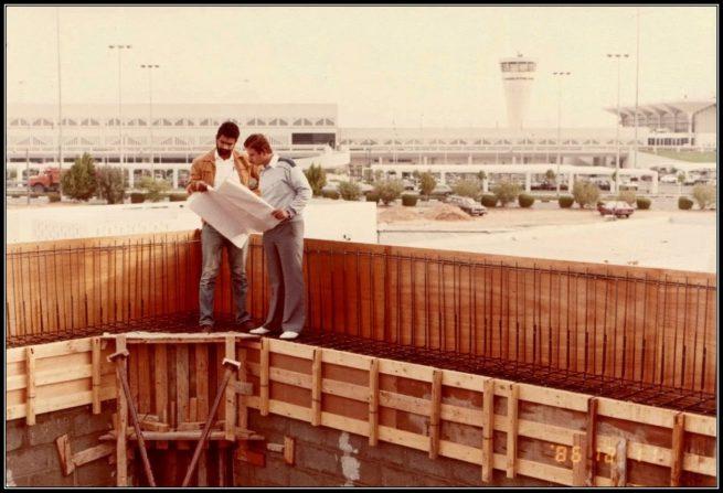 Constructing Dubai International Air Port Mosque 11th of December 1986