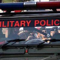 Military Police Vehicle Firing