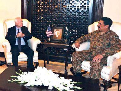 Raheel Sharif and John McCain