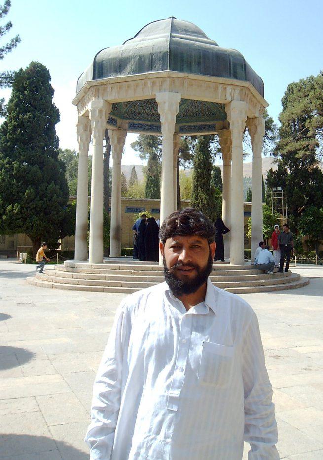 At the tomb of Hafez e Shirazi