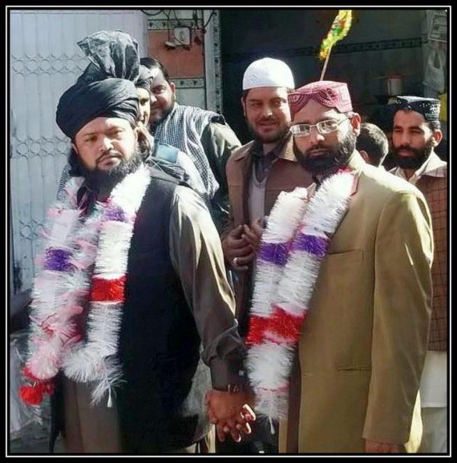 Pir Ateeq Chishti Leading a Meelad March