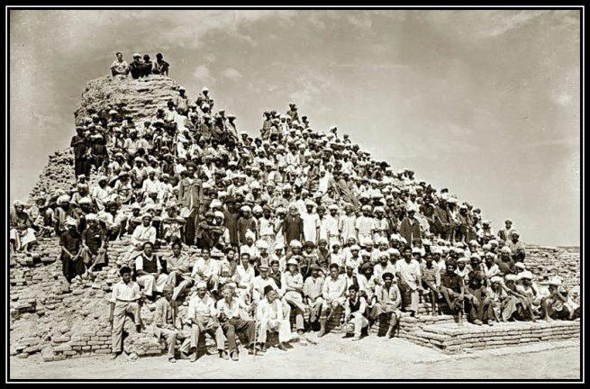 Mohenjo Daro Excavation team in 1950