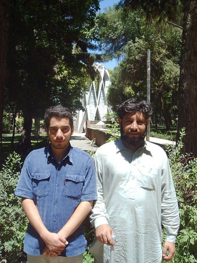 At Mausoleum of Hakeem Umer Khayyam with Mahdi Farrukhi