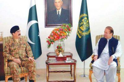 General Raheel Sharif and  Nawaz Sharif