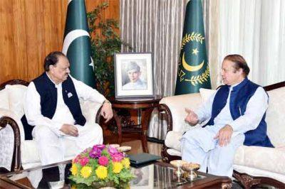 Mamnoon Hussain and Nawaz Sharif