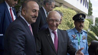 Sartaj Aziz and Turkish Foreign Minister