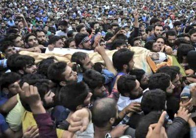 Funeral of Burhan Muzzafar Wani