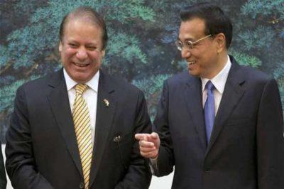 Nawaz Sharif and Chinese Premier