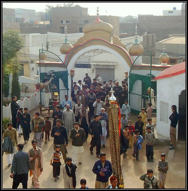Muharram processions entering into darbar e Aaliya