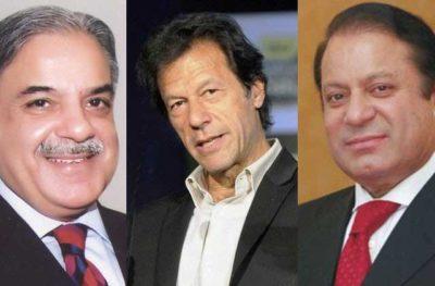 Imran, Shahbaz and Nawaz Sharif