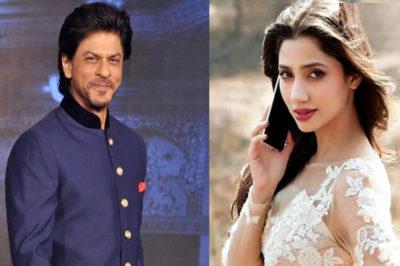 Mahira Khan and Shahrukh Khan